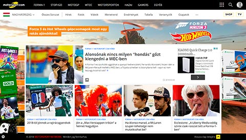 Motorsport Hungary Website